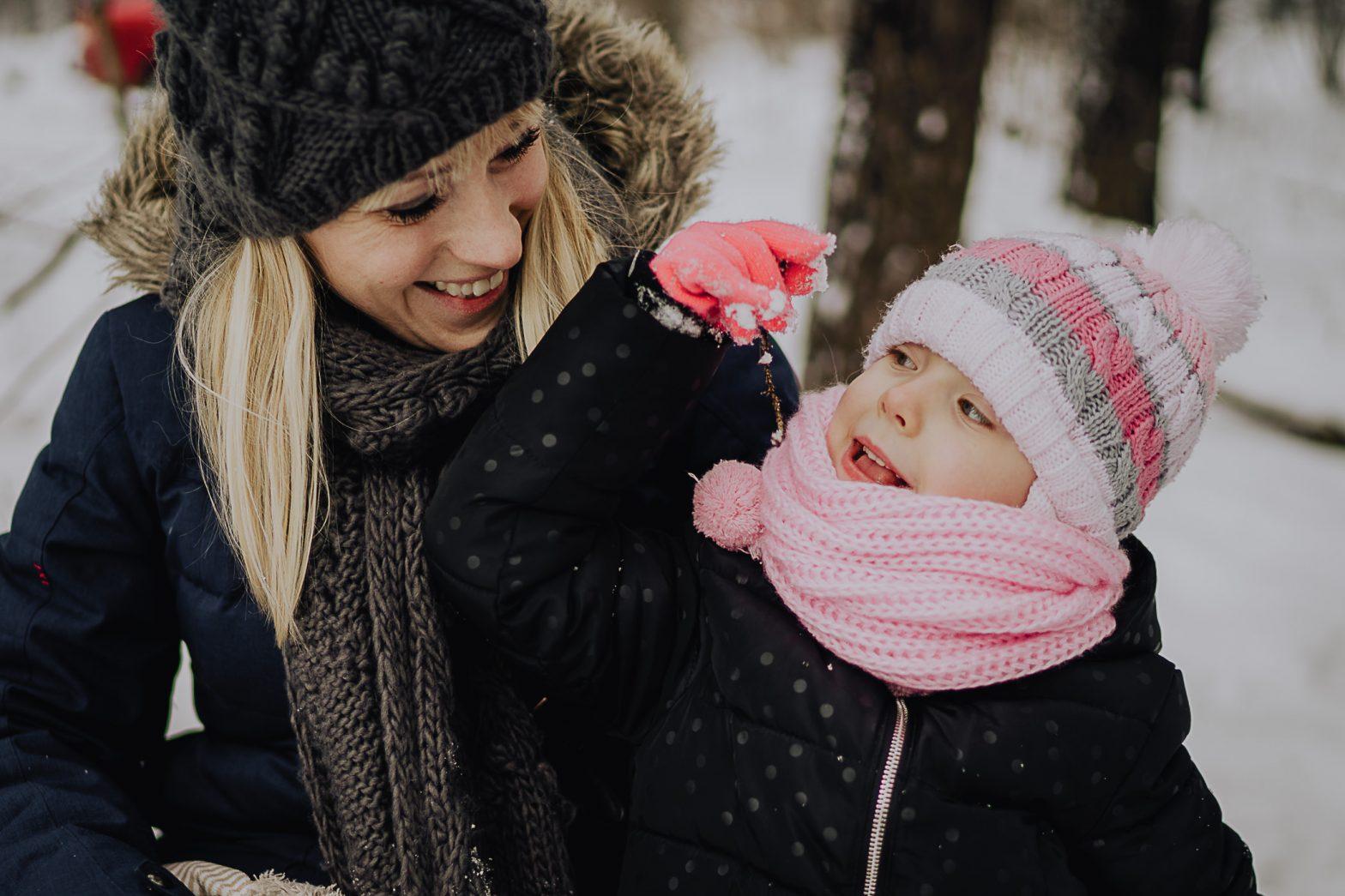 sesja rodzinna zimą